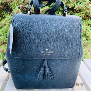Kate spade medium Hayes black backpack leather